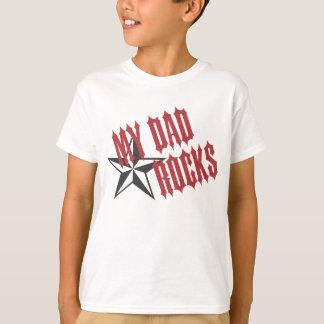 Dia dos pais do ~ do pai da estrela do rock camiseta