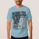 Dia dos pais do Grunge 2014 do pai do mundo o Tshirt