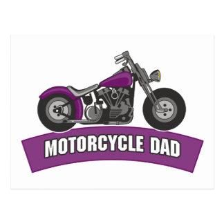 Dia dos pais do pai da motocicleta cartões postais