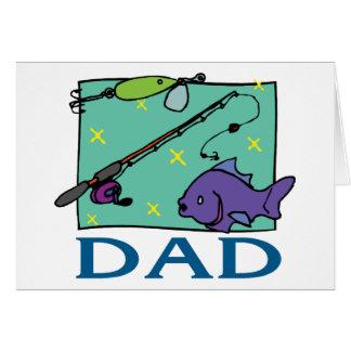 Dia dos pais do pai da pesca cartões