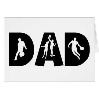 Dia dos pais do pai do basquetebol cartões