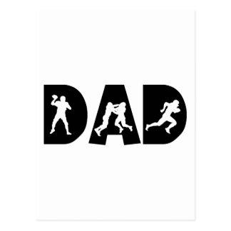 Dia dos pais do pai do futebol cartoes postais