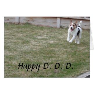 Dia dos pais dos cartões do cão por Janz