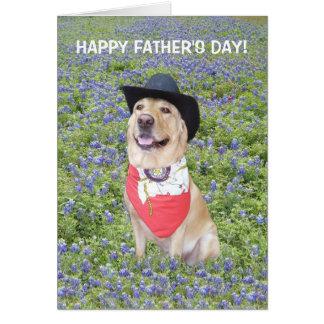 Dia dos pais engraçado de Texas Cartão Comemorativo