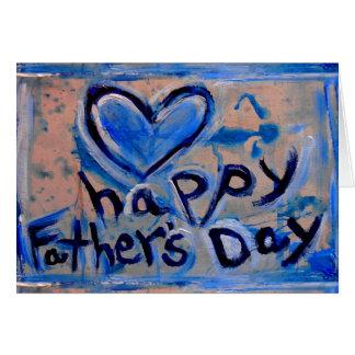 dia dos pais feliz abstrato cartão comemorativo