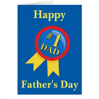 Dia dos pais feliz azul cartão comemorativo