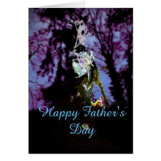 Dia dos pais feliz cartão comemorativo