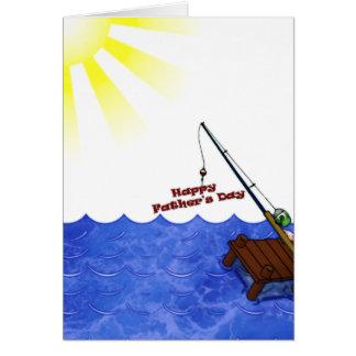 Dia dos pais feliz cartão de nota