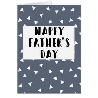 Dia dos pais feliz - cartão de teste padrão azul