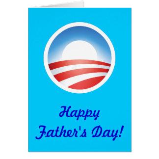 Dia dos pais feliz de Obama! Cartão Comemorativo