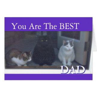 Dia dos pais feliz dos gatos cartão