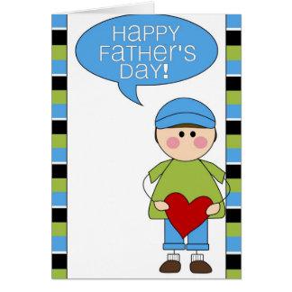 dia dos pais feliz (menino) cartão comemorativo