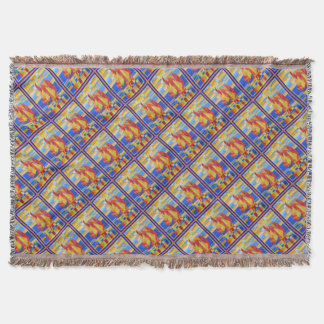 Dia dos pais feliz - sete mares throw blanket