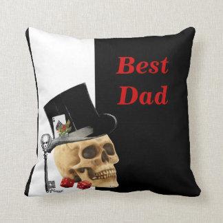 Dia dos pais gótico romântico do jogador do crânio travesseiro de decoração