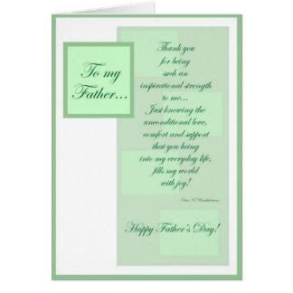Dia dos pais - pai cartão comemorativo