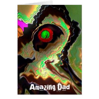 Dia dos pais:   Pai Funky!!  Ame-o pai!! Cartão Comemorativo