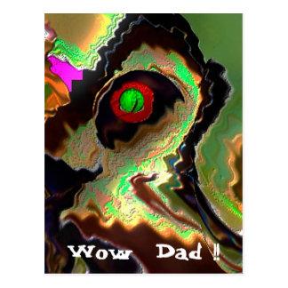 Dia dos pais:   Pai Funky!!  Ame-o pai!! Cartão Postal