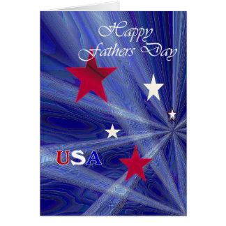 Dia dos pais patriótico cartoes
