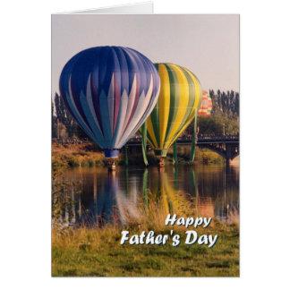 Dia dos pais, respingo dos balões de ar quente & cartão comemorativo