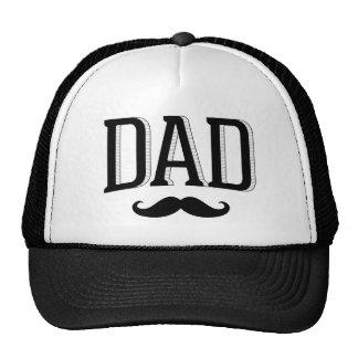 Dia dos pais retro do bigode do pai da tipografia boné