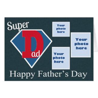 Dia dos pais super do pai cartão comemorativo