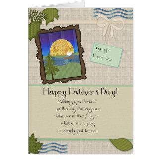Dia dos pais Tan Cartão Comemorativo