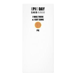 Dia engraçado do Pi da epopeia eu estava lá & eu 10.16 X 22.86cm Panfleto