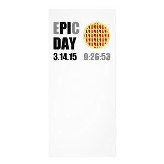 """Dia épico do Pi - DIA de C de E """" PI """" 10.16 X 22.86cm Panfleto"""