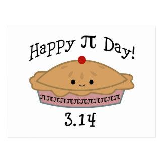 Dia feliz bonito do Pi! Cartão Postal