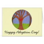 Dia feliz da adopção da árvore da adopção!