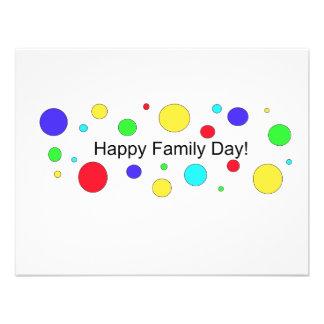 Dia feliz da família convite