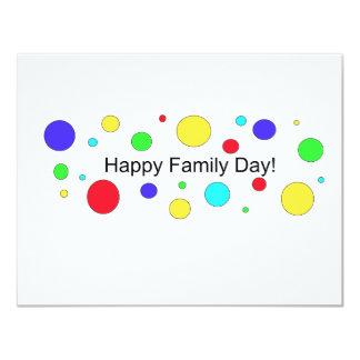 Dia feliz da família! convite 10.79 x 13.97cm
