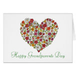 Dia feliz das avós - coração da flor cartão