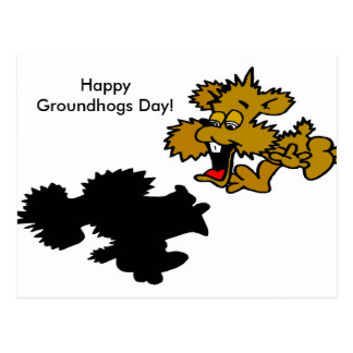 Dia feliz de Groundhogs! Cartão