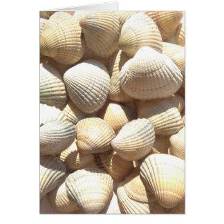 Dia feliz de Mother´s, Seashells, praia do verão Cartão Comemorativo