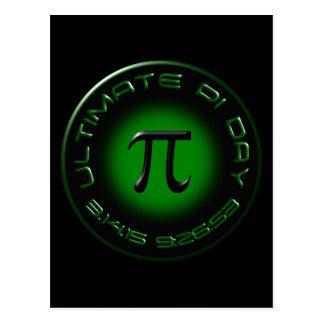 Dia final 2015 do Pi 3.14.15 9:26: 53 (verde) Cartão Postal