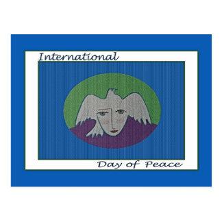 Dia internacional do cartão da cara do pombo da