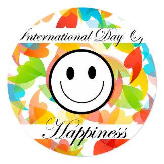 Dia internacional do dia comemorativo da convite quadrado 13.35 x 13.35cm
