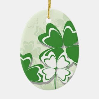 Dia irlandês do St. Patricks do trevo do trevo do Enfeite Para Arvore De Natal