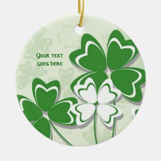 Dia irlandês do St. Patricks do trevo do trevo do Ornamentos Para Arvore De Natal