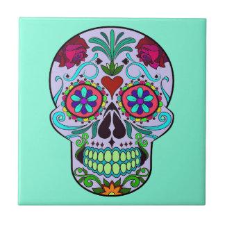 Dia mexicano do crânio inoperante Turquois