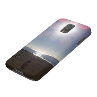 Dia na capa de telefone de Samsung da praia