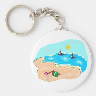 Dia na praia chaveiro