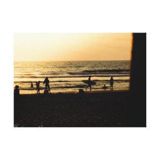Dia na praia impressão em tela
