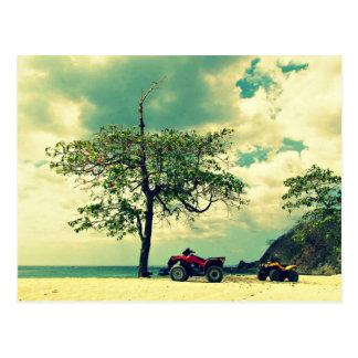 Dia perfeito da praia em San Juanillo Costa Rica Cartoes Postais