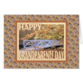 Dia-Ponte feliz das avós Cartão Comemorativo