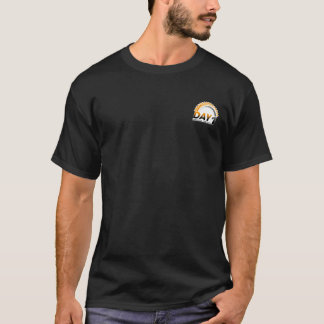 Dia t-shirt PRETO de 1 pinta Camiseta