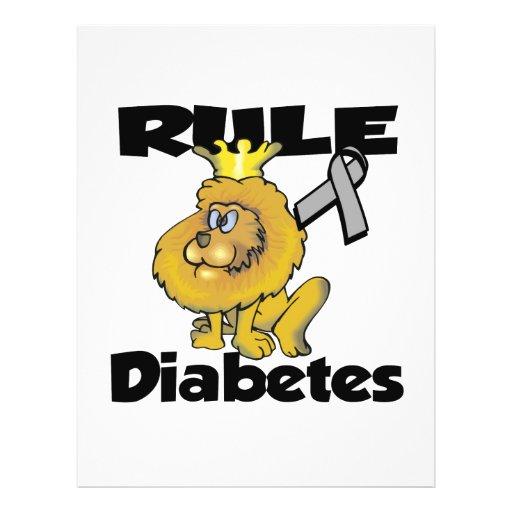 Diabetes da regra panfletos coloridos