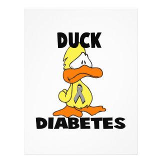 Diabetes do pato panfletos personalizados