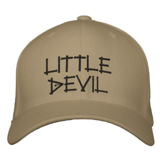 Diabo pequeno boné bordado